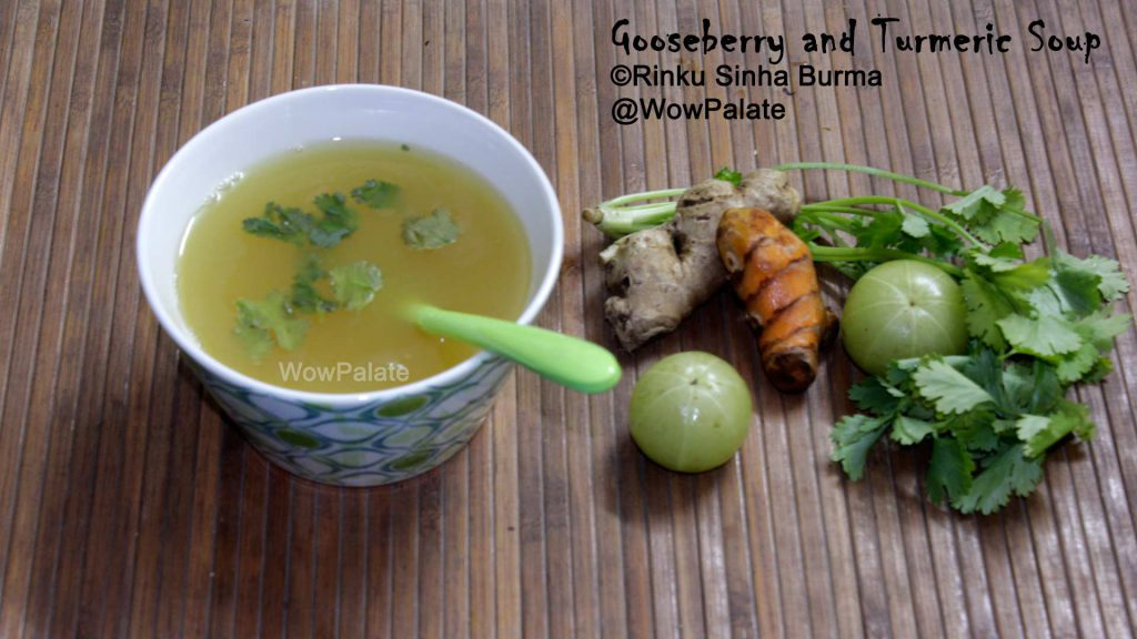 Gooseberry and Turmeric Soup