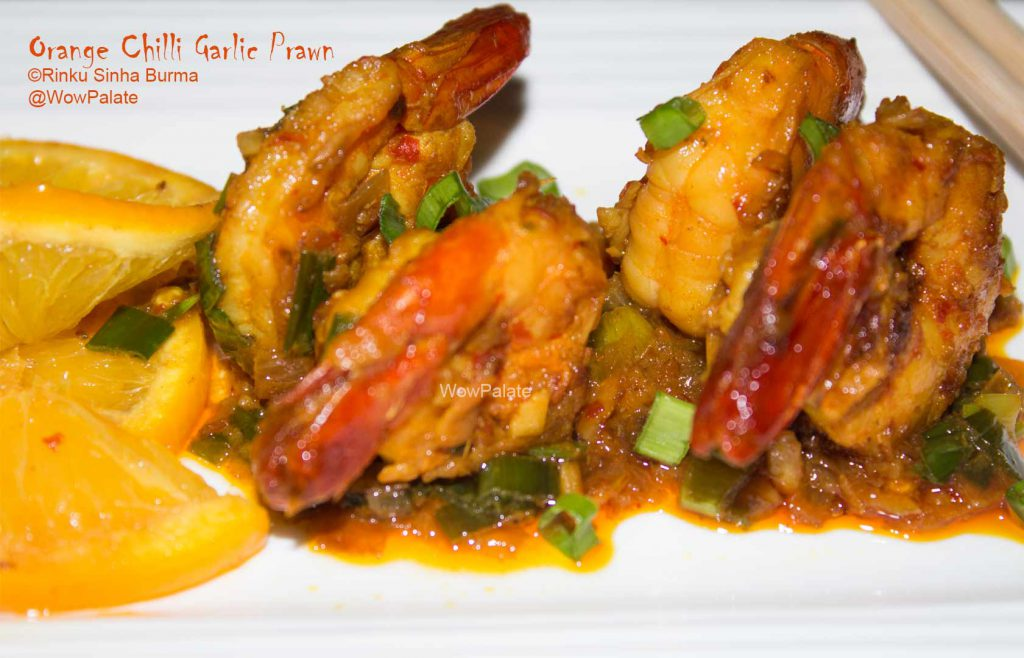 Orange Chilli Garlic Prawn